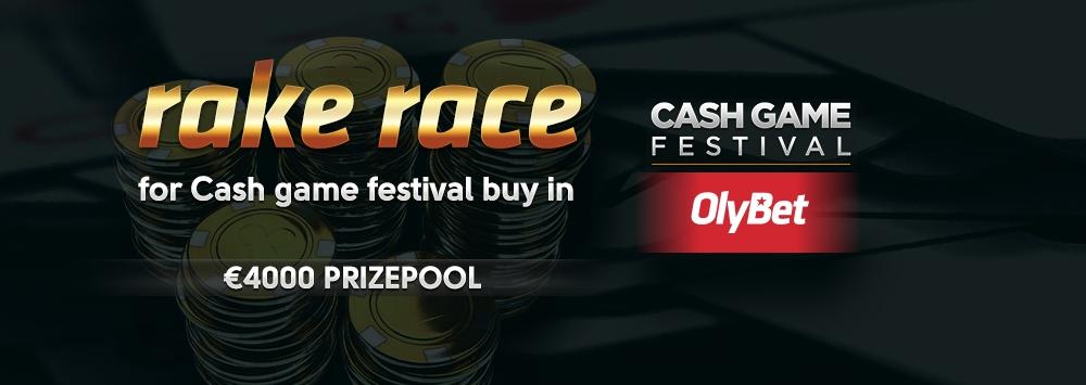 Rake race for Cash Game Festival buy-in - €4000 Prizepool!