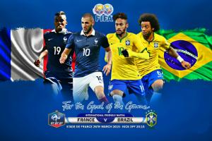 Международные товарищеские матчи – Франция против Бразилии