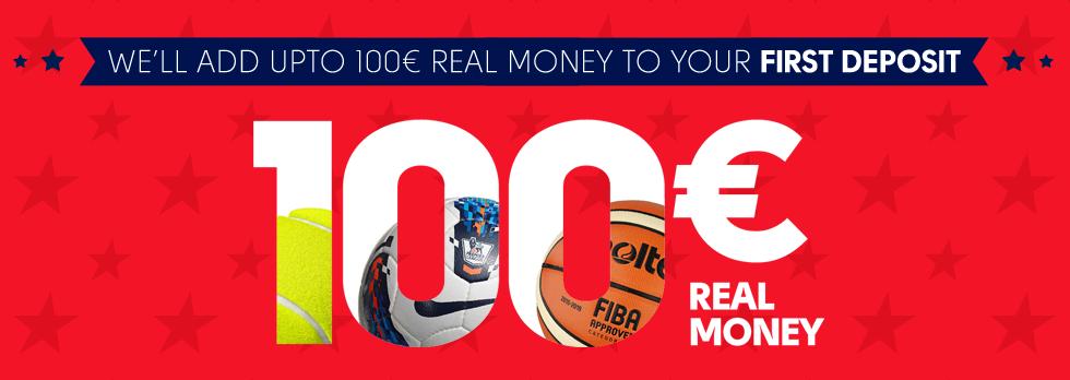 Sport First Deposit Bonus - 100%