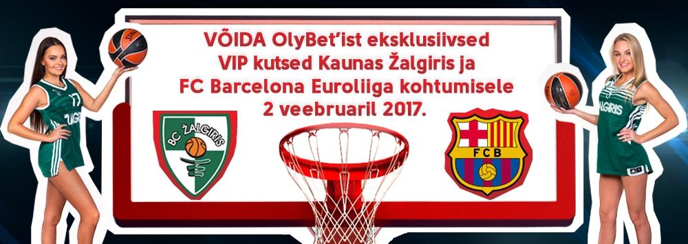 Võida VIP piletid Kaunas Žalgiris - FC Barcelona mängule!