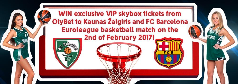 WIN VIP tickets to Kaunas Žalgiris - FC Barcelona match!