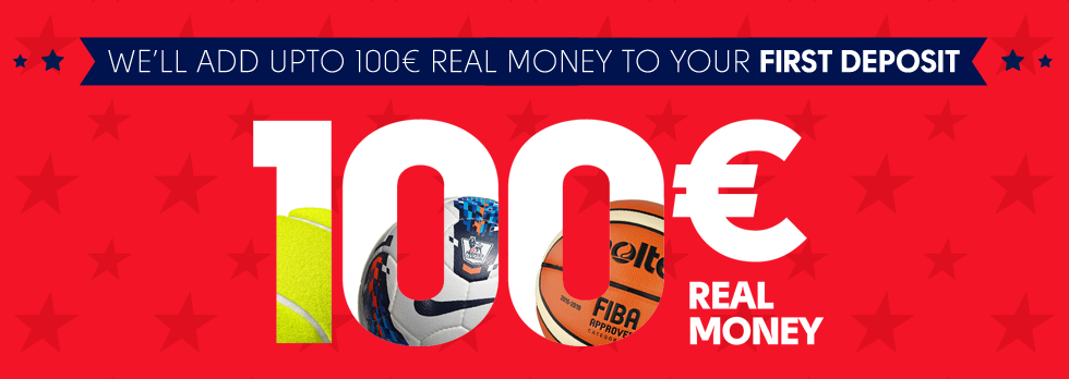 We'll add up to 100€ real money to Your first deposit!