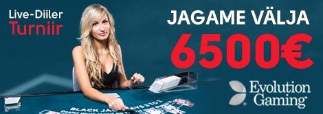 Mängi Live-Diilerit ning võida 2500€!